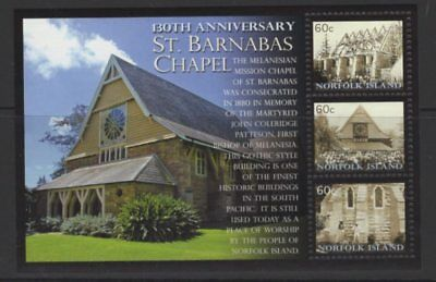 Norfolk Island Sgms1103 2010 St.barnabas Chapel Mnh