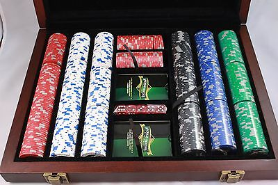 Professional Poker 500 12g Chip Set Heirloom Edition by American Heritage NICE.!