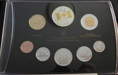 2005 Canadian Silver Proof Set With Double Dollar - Perfect Condition