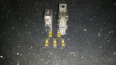 12V Micro 5 Pin Change Over Relay with Diode And Relay base plus brass terminals