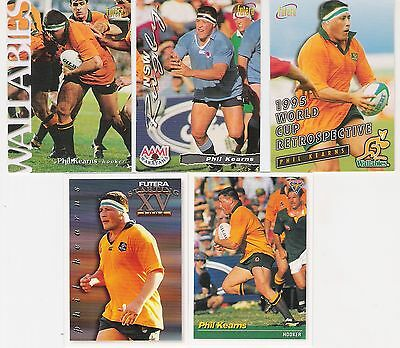 1995 And 1996 Futera 5 Cards Of Phil Kearns