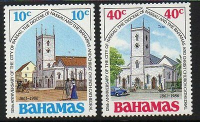 Bahamas Sg774/5 1986 City Of Nassau Mnh