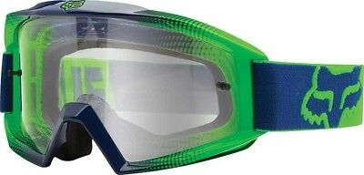 Fox Racing Main  MX/Offroad Race 2 Goggles Navy Blue/Green w/Clear Lens