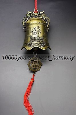 Chinese copper Tibetan Buddhist exorcism big bell