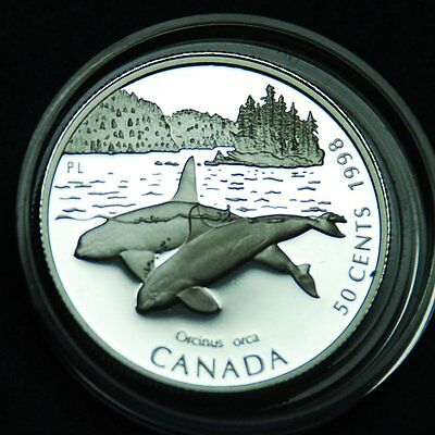 Canada 50¢ 1998 silver proof Killer Whale from Ocean Giants series
