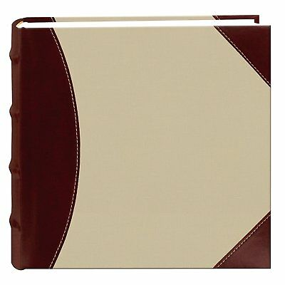 NEW! Photo Pioneer Sewn Leather Album 4x6 Cover Frame Holds Black 300 Photos