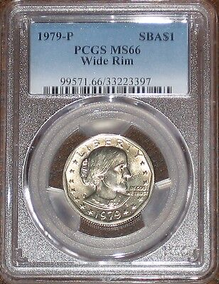 1979 P Susan B Anthony Dollar PCGS Graded MS66 WIDE RIM TYPE SBA Certified coin