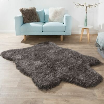tapis fausse fourrure peaux tapis moquettes maison picclick fr. Black Bedroom Furniture Sets. Home Design Ideas