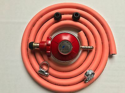 Propane Hand Wheel Regulator No Spanner With 2M Hose & 2 Clips Fits Calor/Flogas
