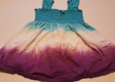 The Children's Place Girls size 7-8 purple white and blue tie dye  top