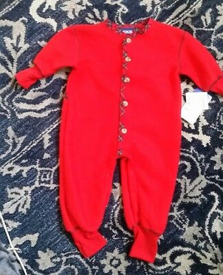 6 month Honors 100 % polyester fleece red sleeper unisex