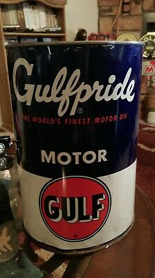 Vintage 5 quart Gulf Oil Can.