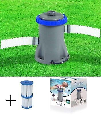 Bestway 330 gallons Flow Clear Filter Pump steel frame pool fast set 8 10 12 ft-