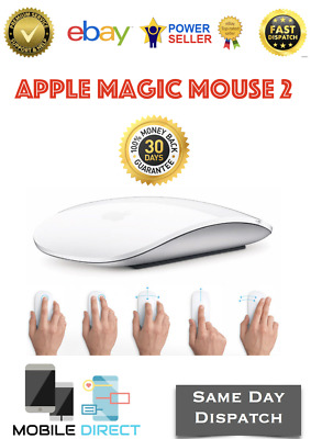 Genuine Official Apple Magic Mouse 2 Wireless Rechargeable Multi-Touch Used
