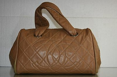New CHANEL Classic Beige Lt Brown Soft CAVIAR Leather Shopper BAG Large CC Logo