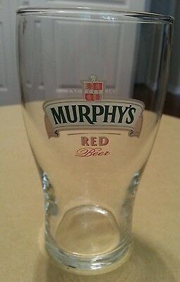 Murphy's Red Beer Glass
