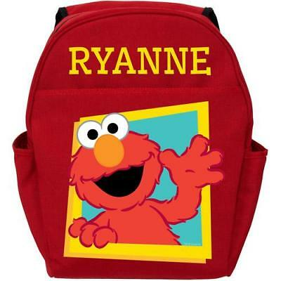 Personalized Sesame Street Hello Elmo Red Toddler Backpack