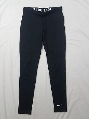 NIKE Dri Fit Pro Combat Black Fitted Athletic Gym Yoga Leggings Size Small