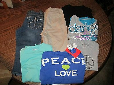 GIRLS CLOTHES LOT OF 7 size 10 1/2 -PANTS,TOPS-NWT