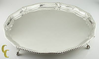 Tiffany Makers Sterling Silver Large Footed Tray 1888 86.5 ounces Great Antique