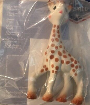 Vulli Sophie the Giraffe Baby Teether Toy Squeaker Natural Rubber New
