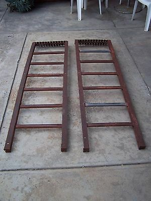 Industrial Steel Steps Staircase Steps - sold as a pair - 1830mm high