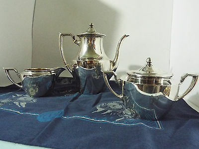 sterling silver C.D. Peacock tea-coffee 3 piece set