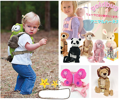 2 in 1 Safety Harness Buddy Strap Baby Kid Toddler Walking Backpack Reins