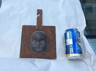 Industrial Factory Doll head Mold Stencil, Steampunk, Altered Art