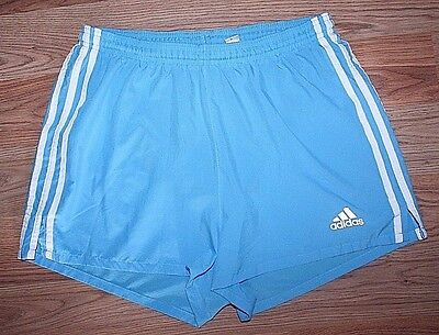 Women's Adidas Blue/White Striped Athletic Shorts with Liner -Size M!