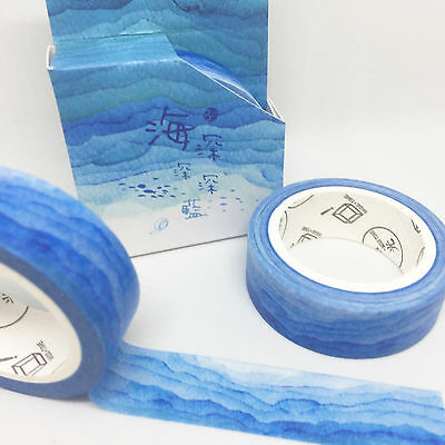 Washi Tape Miss Time Boxed Umi Ocean Blues 15Mm X 8Mtr Plan Scrap Craft Wrap
