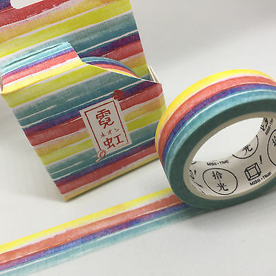 Washi Tape Miss Time Boxed Sundae Stripes 15Mm X 8Mtr Roll Plan Scrap Craft Wrap