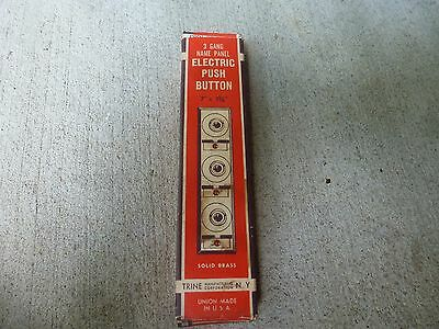 Vintage 3 Name Panel Electric Push Button Doorbell Chrome LNIB