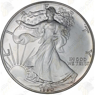 1990 1 oz American Silver Eagle – Brilliant Uncirculated – SKU #1384