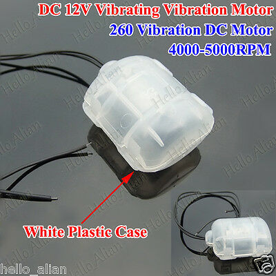 DC 12V 260 Vibrating Vibration Motor with White Plastic Case for Massage Cushion