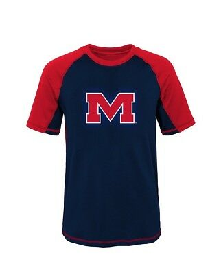 NEW Short Sleeve Rash Guard Ole Miss Rebels NCAA Youth S (8) Mississippi Red Tee