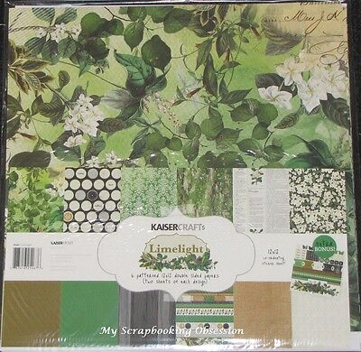"Kaisercraft 'LIMELIGHT' 12x12"" Paper Pk + Stickers KAISER Floral SPECIAL PRICE"