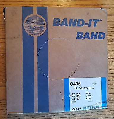 """Band-It Stainless Steel Banding C406 316 SS 3/4"""" 19.1MM 100' C40699"""