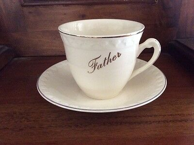 Aynsley &'Co vintage 'Father' cup & saucer (ideal Fathers Day) Rare
