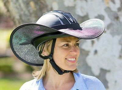 "Horse Riding Helmet Brim Shade ""new "" One Size Fit Extra Large In All Black"