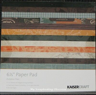 """Kaisercraft 'OUTDOOR TRAIL' 6.5"""" Paper Pad Men's/Camping KAISER *Deleted 1 Left*"""