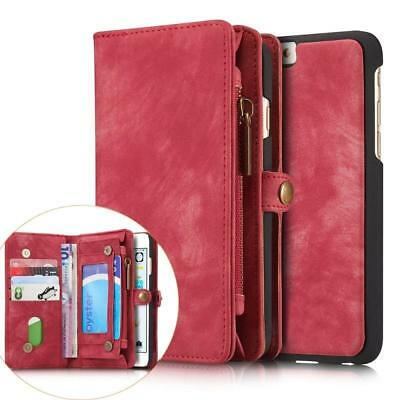 Luxury Leather Removable Wallet Magnetic Flip Card Case Cover for Apple iPhone 7