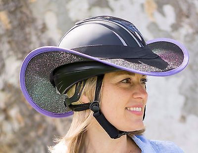 """new ""western Style Horse Riding Helmet Shade  In Black N Purple"