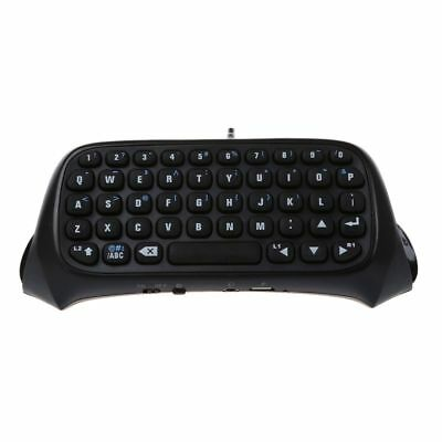 Bluetooth Mini Wireless Chatpad Message Tastatur fuer Sony 4 PS4 Controller F2S7