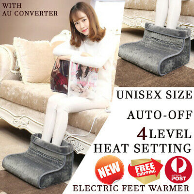 Electric Warmer Foot Comfortable Flannel Comfy Relaxing Foot Warmer 4 Level Heat