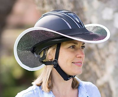 """""""new """"western Style Horse Riding Helmet Shade  In Black With White Trim"""