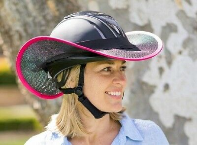 """new ""western Style Horse Riding Helmet Shade  Black With Pink Trim"