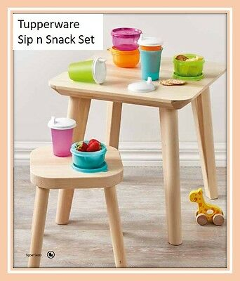 TUPPERWARE Sip n Snack Set - Sippy Cups/Bell Tumblers and Bowls - NEW - Gorgeous