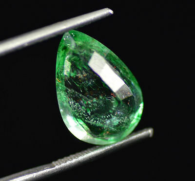 5.50 Ct Natural Pear Shape EGL Certified Transparent Green Emerald Gemstone