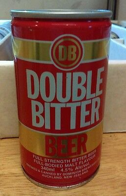 Vintage Double Bitter Beer Can Steel  Brewed By Dominion New Zealand